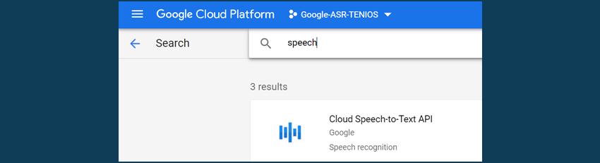 Google Cloud Speech search