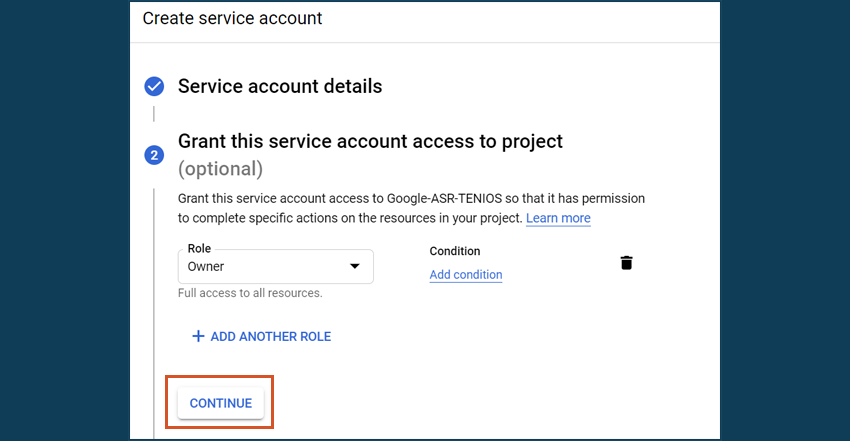 Google Cloud Service Account owner