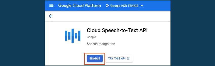 google cloud enable speech