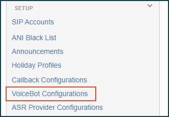 Voicebot Configuration RASA