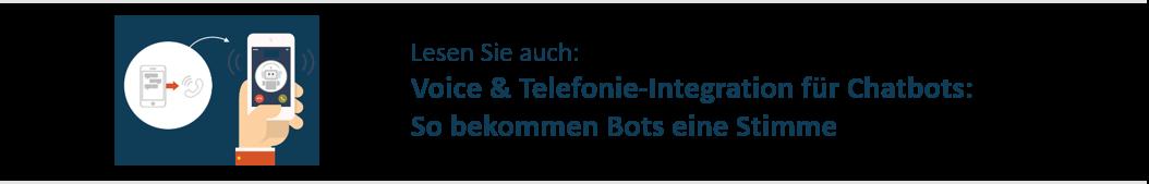 Voice und Telefonieintegration Chatbot